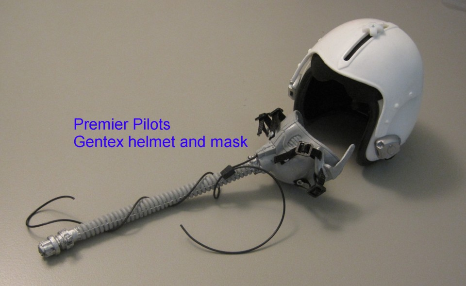 Reaper >> 1/4 Scale Gentex Helmet and Oxygen mask, check stock ...